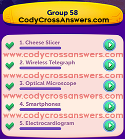 CodyCross Inventions Group 58 Answers