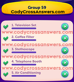 CodyCross Inventions Group 59 Answers