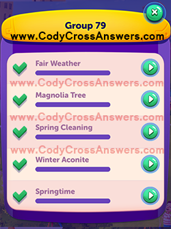 CodyCross Seasons Group 79 Answers